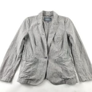 Madewell New Haven Collection Linen Blazer Grey